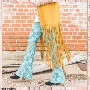 Crazy Train Pants - Crazy Train TEAL RODEO RAGS BELL PANTS **TURQUOISE